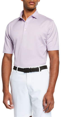 Peter Millar Men's McLean Jacquard Polo Shirt