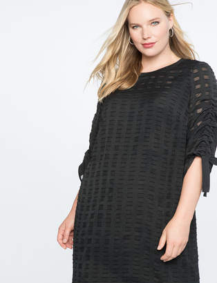 Textured Windowpane Dress