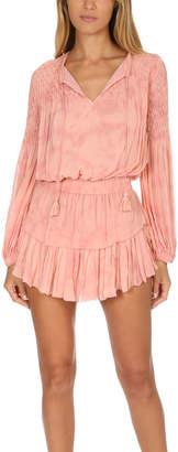 LoveShackFancy Smocked Popover Dress