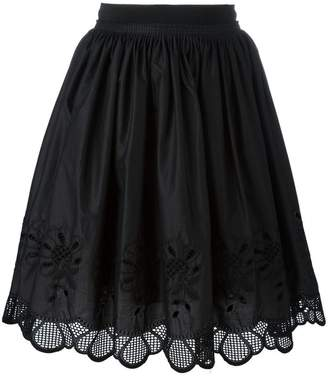 Moncler floral scalloped skirt