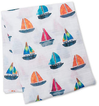 LULUJO Sailboat Cotton Swaddling Blanket