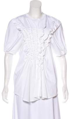 Simone Rocha Ruffle-Accented Short Sleeve Top