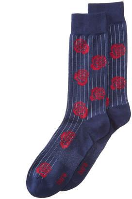 Bar III Men's Pinstriped Rose Socks, Created for Macy's
