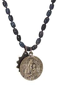Miracle Icons Men's Vintage-Icon Beaded Necklace - Blue