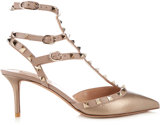 VALENTINO Rockstud leather pumps $1,045 thestylecure.com