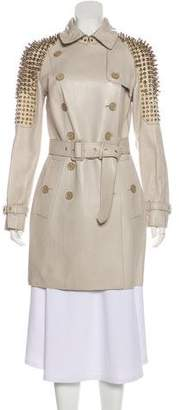 Burberry Studded Leather Coat