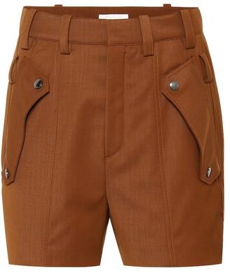Chloé Wool twill shorts