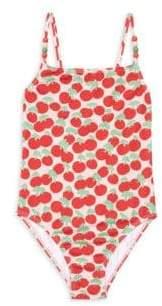 Stella McCartney Little Girl's& Girl's One-Piece Cherry Swimsuit