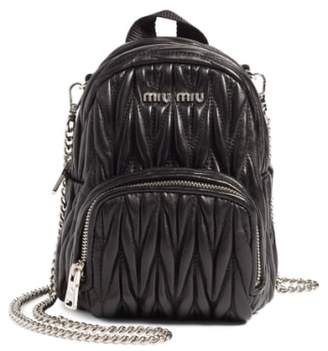 Miu Miu Micro Matelasse Leather Backpack