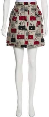 Lanvin Jacquard Mini Skirt