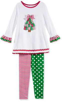 Bonnie Jean 2-Pc. Holiday Tunic & Leggings Set, Toddler Girls (2T-5T) & Little Girls (2-6X) $56 thestylecure.com