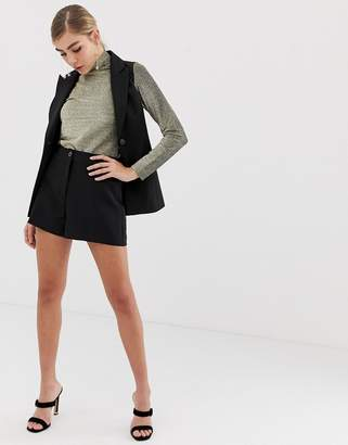 Miss Selfridge tailored shorts in black