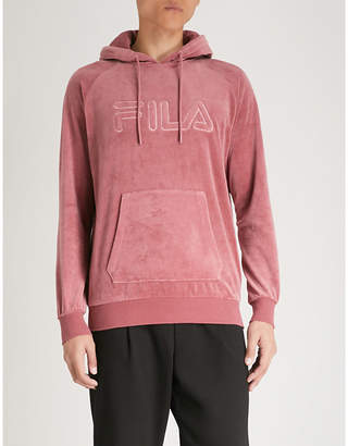 Fila Logo-embroidered cotton-blend hoody