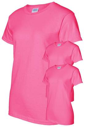 Gildan Women's Preshrunk Seamless Crewneck T-Shirt (3 Pack)