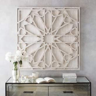 west elm Graphic Wood Wall Art - Whitewashed (Square)