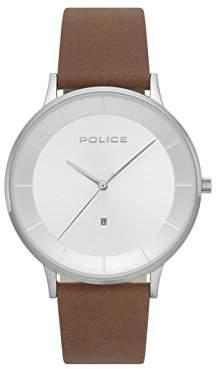 Police Mens Chronograph Quartz Watch with Leather Strap PL.15400JS/04
