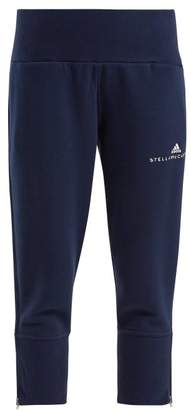 adidas by Stella McCartney Essentials Cotton Blend Cropped Sweatpants - Womens - Navy