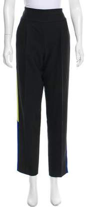 Milly Mid-Rise Straight-Leg Pants