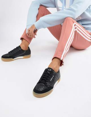 adidas Continental 80's Sneakers In Black With Gum Sole