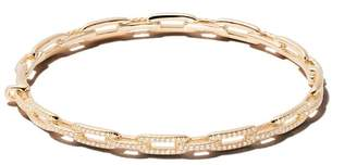 David Yurman 18kt yellow gold Stax diamond chain link bracelet