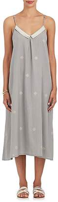 Two Women's Cotton Sleeveless Cover-Up Dress - Grey W, peach