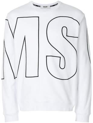 MSGM macro logo sweatshirt