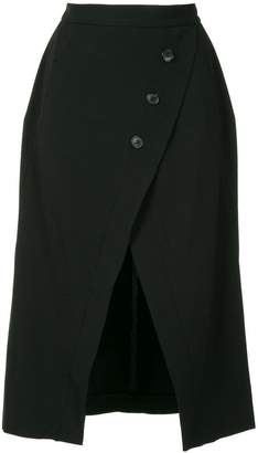 Kitx button front slit skirt