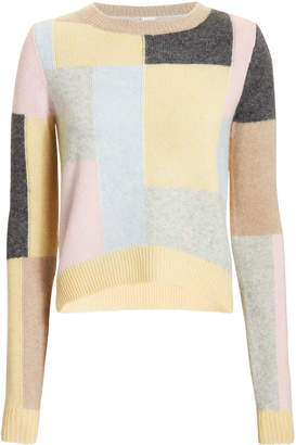 ADAM by Adam Lippes Patchwork Brushed Cashmere Sweater