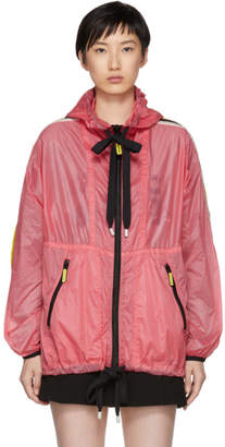 Marc Jacobs Pink Nylon Hooded Windbreaker Jacket