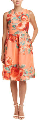 Lela Rose Silk-Blend A-Line Dress