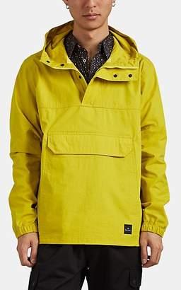 Paul Smith Men's Cotton-Blend Ripstop Half-Zip Hooded Anorak - Yellow