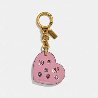 Coach Embellished Heart Bag Charm