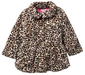 Juicy Couture Leopard Print Faux Fur Jacket (Baby Girls)