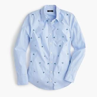 J.Crew Embellished slim stretch perfect shirt in stripe