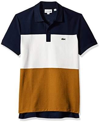 Lacoste Men's Short Sleeve Noppe Pique Striped Color Block Polo