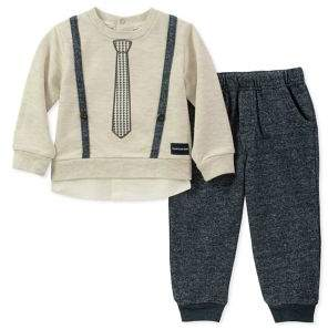 Calvin Klein Baby Boy's Two-Piece Formal-Trim Sweater & Pants Set