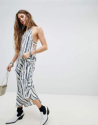 En Creme En Crme Racer Cami Maxi Dress In WATERCOLOR Stripe