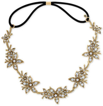 Rachel Roy Gold-Tone Crystal Flower Headband