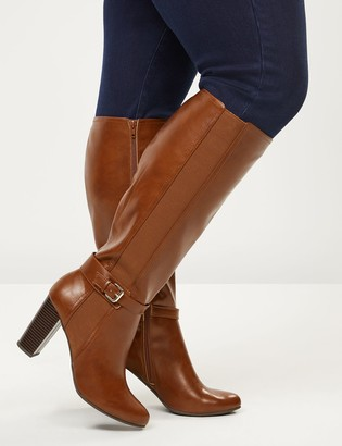 Lane Bryant High Heel Ankle-Strap Riding Boot