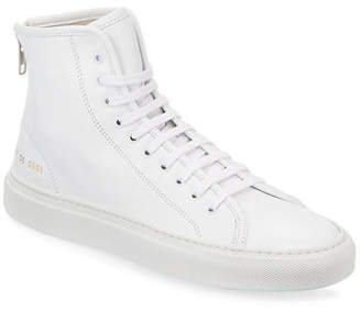 c435c40e4e402 Common Projects Tournament Leather High-Top Sneakers