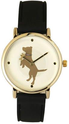OLIVIA PRATT Olivia Pratt Dog Unisex Gray Strap Watch-16765black