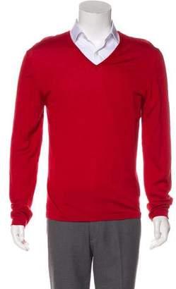 Gucci Wool & Silk V-Neck Sweater