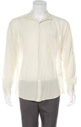 John Varvatos Gingham Print Shirt