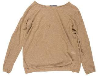 Vince Rib Knit Linen Sweater