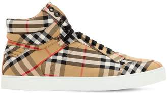 Burberry Vintage Check Canvas High Top Sneakers