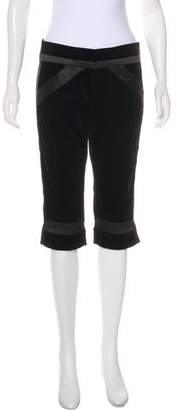 Diane von Furstenberg Velvet Mid-Rise Pants