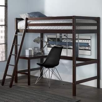 STUDY Harriet Bee Felipe Twin Bunk with Loft Bed Frame
