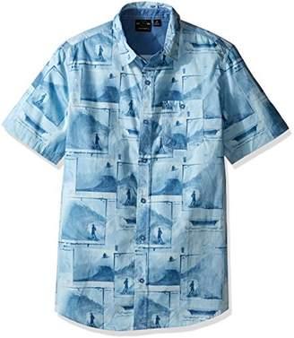 Burnside Men's Smashed Short Sleeve Printed Shirt