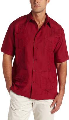 Cubavera Cuba Vera Men's Short Sleeve Embroide Guayabera