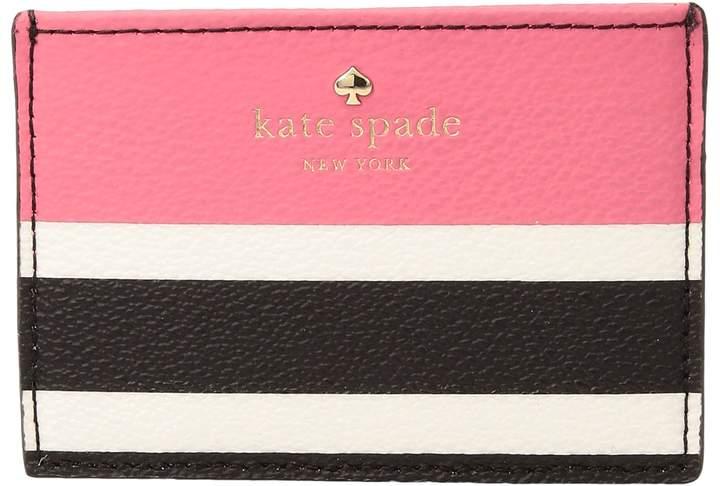 Kate Spade New York - Hyde Lane Stripe Pop Card Holder Wallet